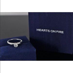 Nearly perfect diamond , 18k gold w/ appraisal!